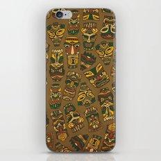 Tiki Masks iPhone & iPod Skin