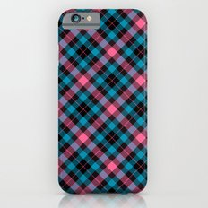 Pink and Blue Plaid Slim Case iPhone 6s