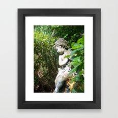 Irish Garden Statue Framed Art Print