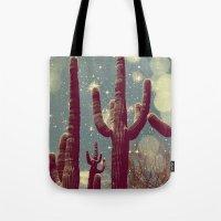 Space Cactus Tote Bag