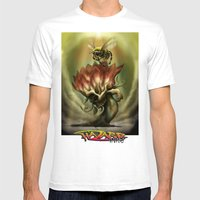 Death Blooms Mens Fitted Tee White SMALL