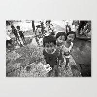 Vietnamese Children With… Canvas Print