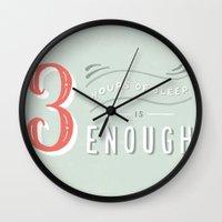 3 Hours Of Sleep Is Enou… Wall Clock