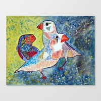 Finches Canvas Print