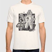 Vintage Robot Mens Fitted Tee Natural SMALL