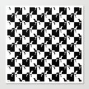 Black and White Checkerboard Weimaraner Canvas Print