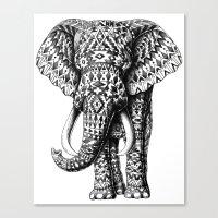Navajo Elephant Canvas Print