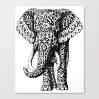 Navajo Elephant Canvas Print