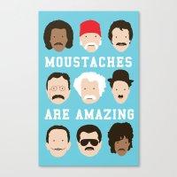Moustaches Are Amazing Canvas Print