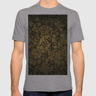 Decorative Damask Mens Fitted Tee Athletic Grey SMALL