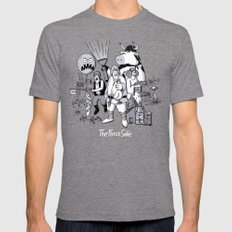 The Force Side Mens Fitted Tee Tri-Grey SMALL