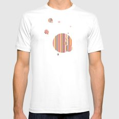 Color Me//One Mens Fitted Tee White SMALL