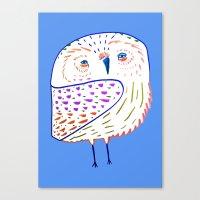 owl print, owl illustration, owl art, owl  Canvas Print