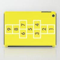 Hopscotch Yellow iPad Case
