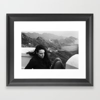 Up On Mountain Road With… Framed Art Print