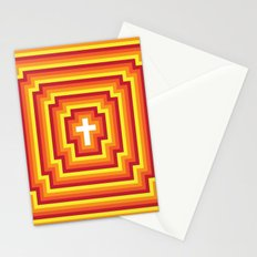 Technicolour Cross - Orange Stationery Cards