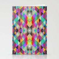 Winter geometrics Stationery Cards