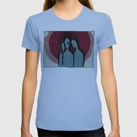 Three Womens Fitted Tee Athletic Blue SMALL
