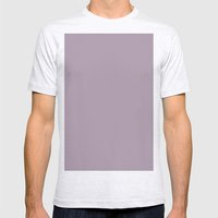 Heliotrope gray Mens Fitted Tee Ash Grey SMALL
