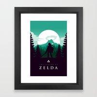 The Legend of Zelda - Green Version Framed Art Print
