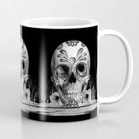 Pulled sugar, day of the dead skull Mug