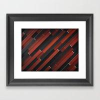Maniac Pattern Framed Art Print