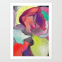 Abstract Rose. Art Print