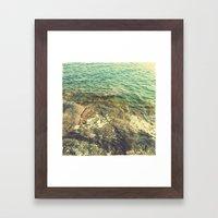Lake Vättern - Swedish summer Framed Art Print