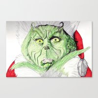 Canvas Print featuring Grinch by DeMoose_Art