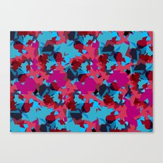 Flakes Turquoise Canvas Print