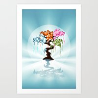 The Four Seasons Bubble Tree Art Print