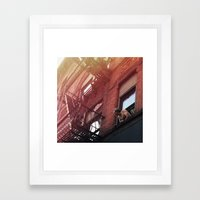 Man In Window - New York City - Photograph Framed Art Print