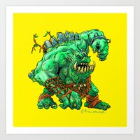 Straight Trollin' Art Print