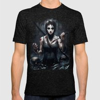 Tomb Raider Mens Fitted Tee Tri-Black SMALL