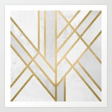 Art Deco Geometry 2 Art Print