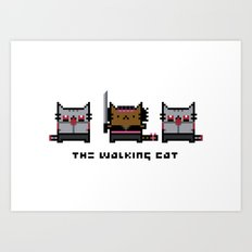 The Walking Cat - Meowchonne Art Print