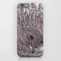 iPhone & iPod Case featuring Sleeping fox by Linette No