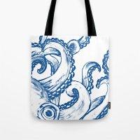Blue Octopus Tote Bag