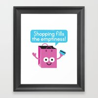 Retail Therapy Framed Art Print