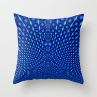 Fract Peacock Throw Pillow