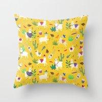 Alpacas & Maracas  Throw Pillow