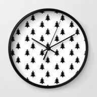 Black And White Christma… Wall Clock