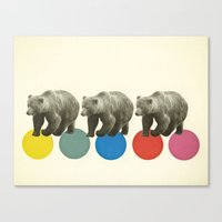 Wandering Bears Canvas Print