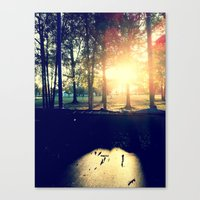 Canvas Print featuring Backyard Sunset by Lindsey