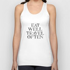 Eat well, Travel often Unisex Tank Top