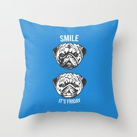 Smile It's Friday! Throw Pillow