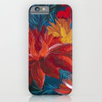 iPhone & iPod Case featuring Fiery Dahlia Blossoms by Charlotte Curtis