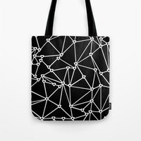 Abstract Heart Zoom Black Tote Bag
