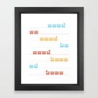 The Essential Patterns of Childhood - Train Framed Art Print