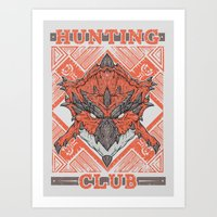 Hunting Club: Rathalos Art Print